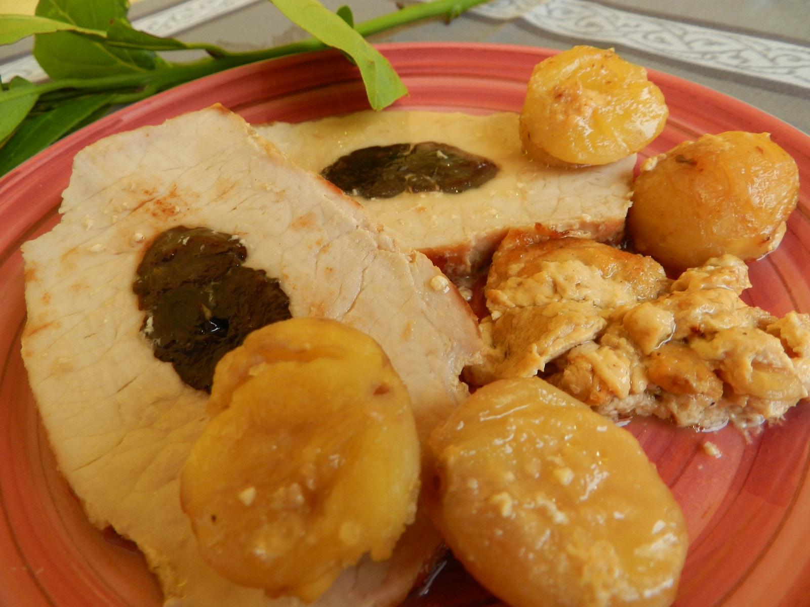 Pork Tenderloin with Prunes and Chestnuts   Still Served Warm