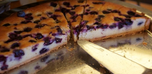 Blueberry and ricotta pie