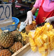 Bangkok-Street-Food Fresh Pineapple
